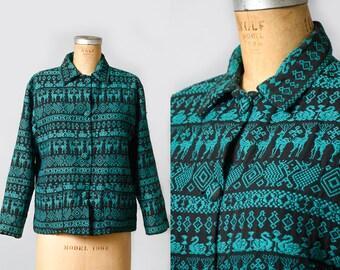 1960s Guatemalan Bright Handwoven Jacket Textiles Hernanz