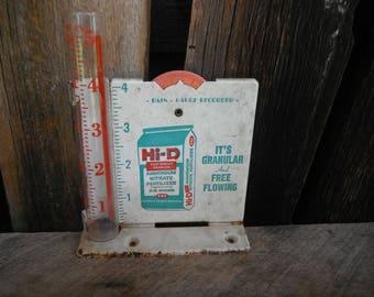 Vintage Metal Advertising Rain Gauge Recorder
