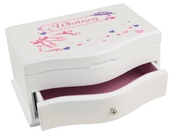 Personalized Ballet Princess Princess Jewelry Box Paste Recital Dance Tap Dancer Slippers Arts jewef-321