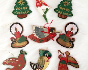 Flat Wooden Ornaments / Christmas Gift Tag Ornaments / Angels, Trees and More
