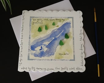 Scots greeting card etsy robert burns card afton water burns night scottish poetry sea glass card m4hsunfo
