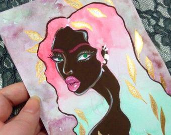 Niara Original Watercolor & Gouache Painting