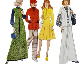 VINTAGE RETRO Creative Patterns Vintage 1970's Instructional Sewing Booklet and Pattern: Loose Jackets ~  Instructions/Patterns for 6 Pieces