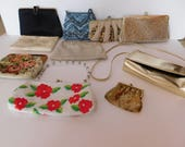 Lot of 9 Handbags, Clutches, Purses - Great Selection