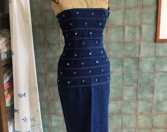 Vintage Angelo Tarlazzi denim dress 80s