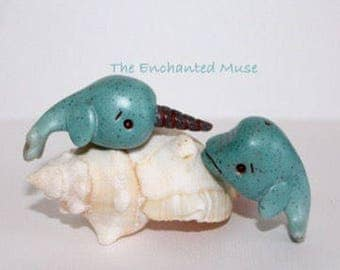 Sea Green Beluga and Narwhal Best Friend Set