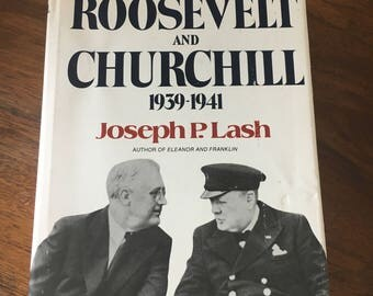 Book, Vintage Book, History, Roosevelt and Churchill
