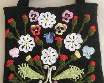 ON SALE - 10% OFF Irish crochet bag