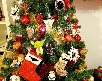 Set of 6 star wars Christmas ornaments / christmas decoration / deco de Noël/ sapin de Noël / Christmas tree