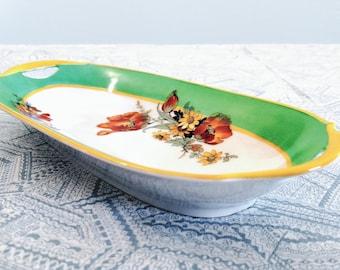 PM Moschendorf Bavarian Porcelain Tray Circa 1920s