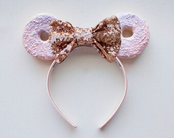 Ombre Donut Ears / Purple and Pink Mouse Ears / Minnie Ears / Disneyland Ears / Disney Ears / Minnie Mouse Ears / Disney Donut Ears