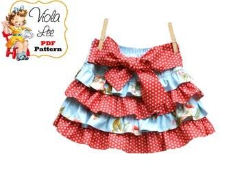 Jessalyn Girls Skirt Pattern pdf. Girls Ruffled Skirt Sewing Pattern. pdf Sewing Pattern. Twirl Skirt Pattern. Ruffle Toddler Skirt Pattern