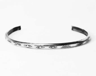 Sterling Silver | Native American | Moon Rays | Cuff | Bracelet