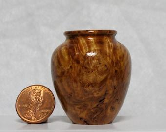 Tasmanian Eucalyptus Burl Turned Wood Miniature Vase