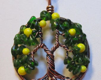 Lemon Tree of Life, Emerald Lemon Tree of Life, Chrome Diopside Lemon Tree of Life Necklace