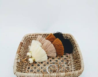 Vintage Rattan Ring Basket / Bowl