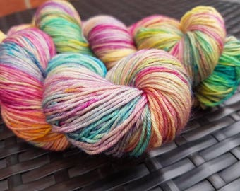 Village Fete: 100g hand dyed merino/nylon sock yarn