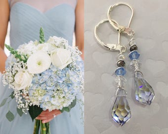 Crystal Bridal Earrings, Wedding earrings, Long Bridal earrings, Bridesmaids, Swarovski Wedding Jewelry, Long Crystal Drop Earrings