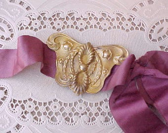 Enchanting 2 Piece Victorian Era Sash Buckle