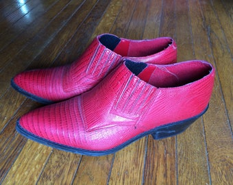 Circle S Womens Ankle Boots Apple Red