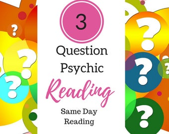 3 ? Psychic Email Reading - 3 Questions Answered No Tools, Same Day Psychic Reading Email - Channeled Psychic Reading - Receive Today + PDF
