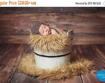 Happy Birthday sale Pixie alpaca hat for baby, handknitted, props