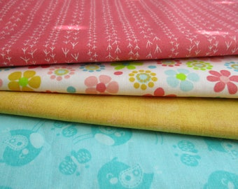 Quilting Fabric Bundle - Fabric by the Yard -  1/2 Yard Fabric Bundle - Total 2 Yards - FREE SHIPPING - Cotton Fabric - Designer Fabric