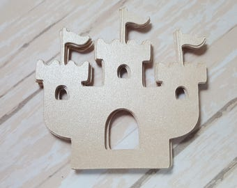 Sand castle die cuts, Beach Embellishments, Seaside
