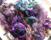 Great British hand dyed felting fleece pack - 100g - Bag 38