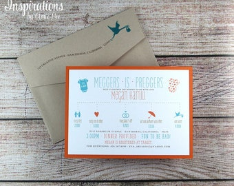 Shower Invitations, Baby Shower, Baby Shower Invitations, It's a Girl, It's a Boy