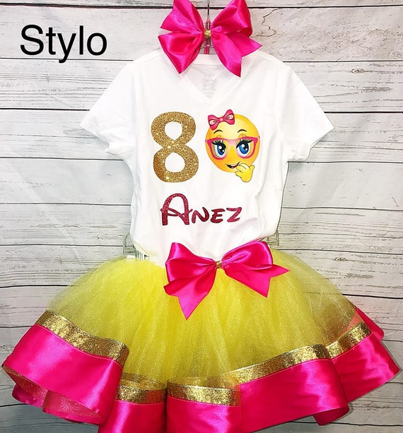 Emoji Birthday outfit FREE SHIPPING pink outfut birthday