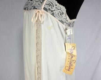 Vintage Diane von Furstenberg Cream Nightgown NOS Medium