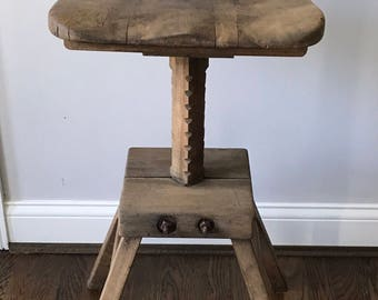 Wood Drafting Stool drafting stool   etsy
