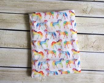 Rainbow Unicorns Organic Swaddle Blanket