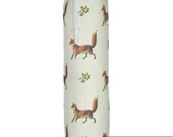 "Exclusive Designer Plastic Carrier Grocery Bag Holder Dispenser - Fox, ""Phillips Park"" Collection From Izabela Peters, Made in The UK"