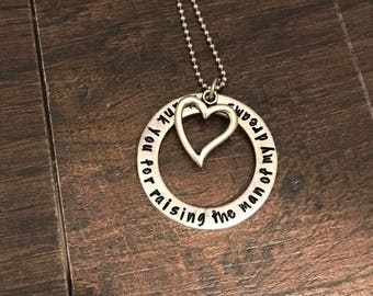Mother of the groom gift. Wedding party gift. Thank you for raising the man of my dreams. Bride. Gift for her