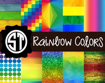 Rainbow Colors Pattern printed indoor, outdoor, glitter, & metallic decal VINYL or heat transfer vinyl HTV or applique FABRIC