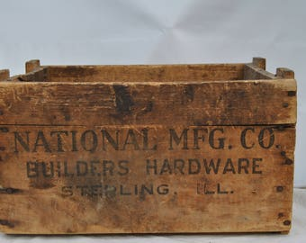 National Manufacturing Company Wooden Crate