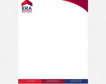 8.5x11 real estate letterhead - full color front, blank back - 70 lb. smooth white paper - FREE custom design - FREE UPS ground shipping