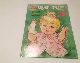 baby cheerful tearful paper doll set whitman