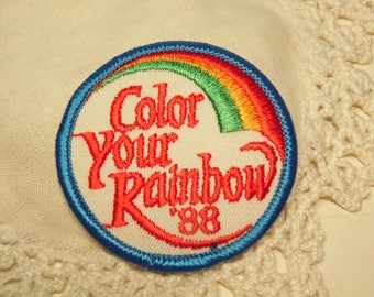 Vintage Girl Scout Patch - Color Your Rainbow 88