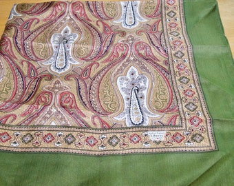 Vintage Liberty Of London Olive green Paisley Scarf