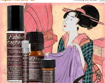 SALE GEISHA Perfume: Japanese Floral, Green Tea, White Lotus, Soft Musk, Jasmine Sambac, Vegan Solid Perfume, Ships Out in 5-7 Days