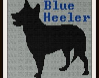 Blue Heeler C2C Graph, Australian Blue Heeler, Blue Heeler Crochet Pattern