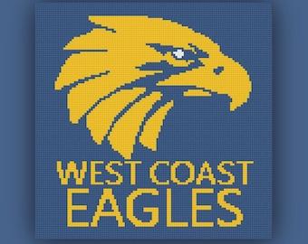 West Coast Eagles Afghan, C2C Graph, West Coast Eagles C2C Graph