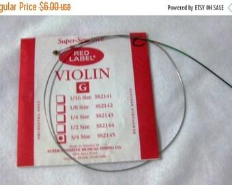 30% Off Clearance Sale Super-Sensitive Red Label Violin String G 3/4 Size