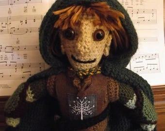 Faramir, a handmade crochet doll