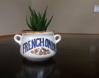 Vintage French Onion Soup Bowl