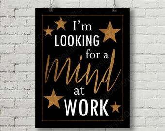 Hamilton Inspired Fan Art, Printable Hamilton Musical Quote Word Art Poster, Mind at Work, 11x14 and 8x10 INSTANT DOWNLOAD