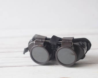 Vintage Wilson Flip Up Safety Welding Goggles Motorcycle Steampunk
